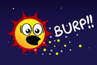 comic of sun burping
