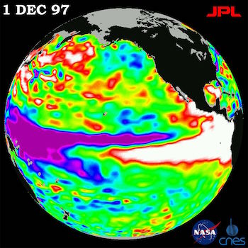 a view of the 1997-98 El Nino as observed by TOPEX/Poseidon