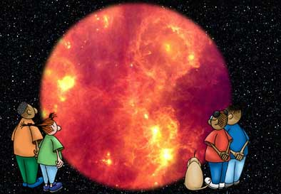 Space Place Kids see Orion in infrared.