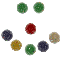 image of gumdrops in the shape of a smiley face
