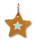cartoon of star-shapped cookie with a colored star in the middle