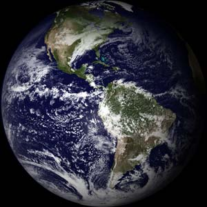 Earth as view from GOES-East.