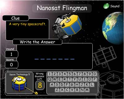 Click to play Nanosat Flingman!