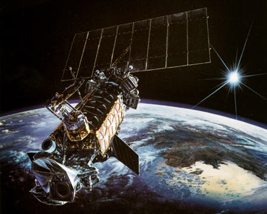 artists conception of the DMSP satellite