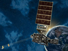 artists conception of the goes-r weather satellite