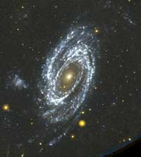 GALEX image of spiral galaxy.
