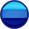 a merit badge with bands of blues indicating cold weather