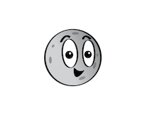 a cartoon of Mercury with a smiling face.