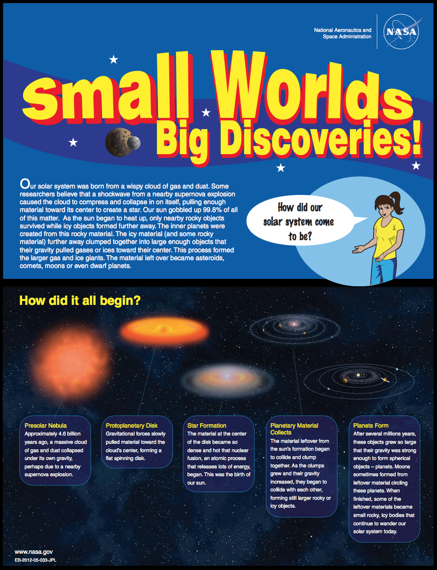 Thumbnail image of small bodies brochure front page