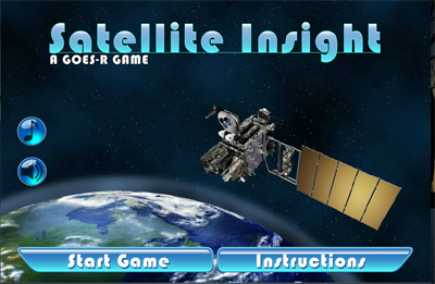 Screen shot of Satellite Insight, a GOES-R game.