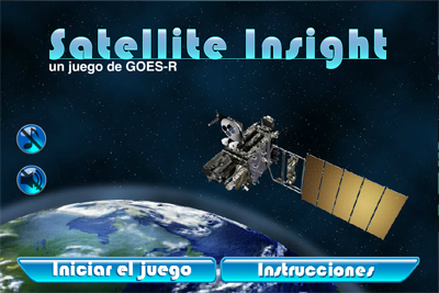 Captura de pantalla de Satellite Insight, un juego de GOES-R.