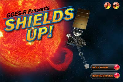 Picture of shields-up game splash page.