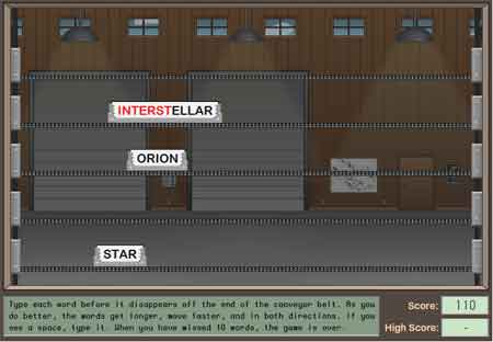 Screenshot from sign Here game.