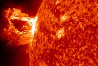 Still image of solar flare. Click to play video.
