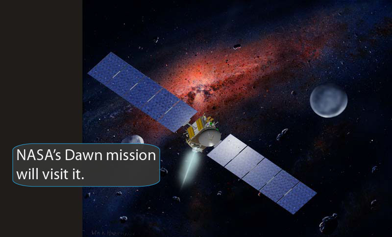 Artist rendering of Dawn spacecraft.