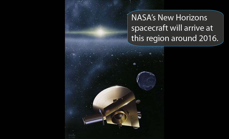 Rendering of New Horizons spacecraft.