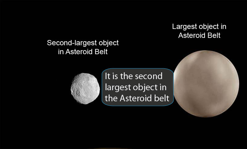 Image of this object beside the one asteroid that is larger, for size comparison.