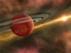 CoKu Tau 4: The Spitzer Space Telescope found a clearing in the dusty disk around the star CoKu Tau 4. The clearing hints that a large planet could be in orbit there. The planet could be as massive as Jupiter and may look like our own Jupiter looked billions of years ago.
