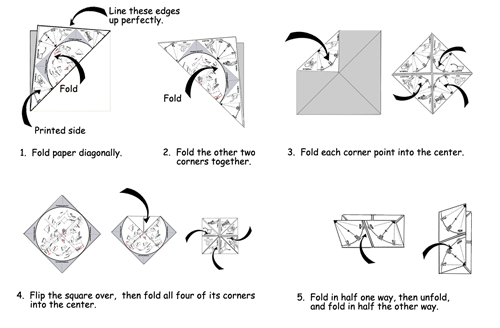Steps to fold the Star Finder