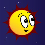 Cartoon of the sun
