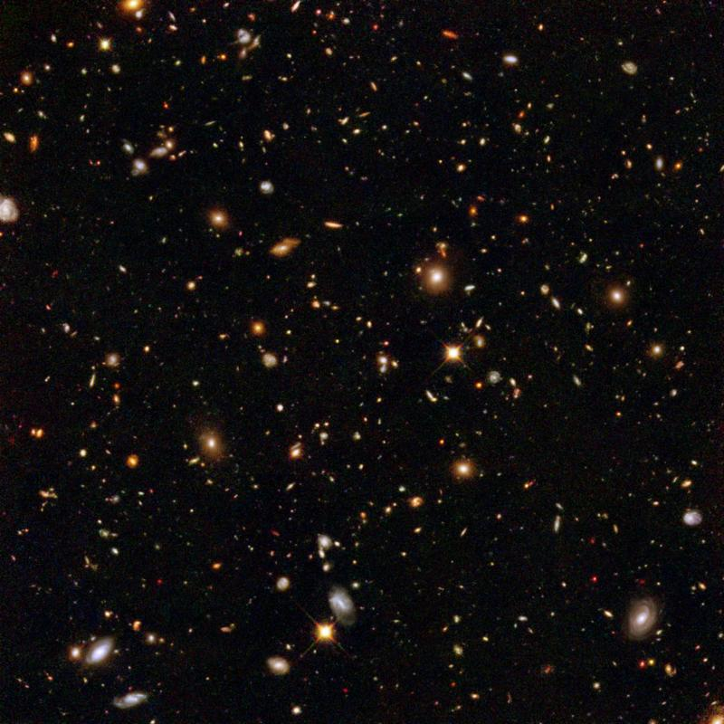 Image of galaxies, taken by the Hubble Space Telescope.
