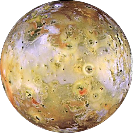 false color image of Io. Credit: NASA/JPL