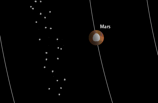 close-up illusrtration of of Mars