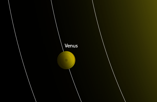 close-up illusrtration of of Venus