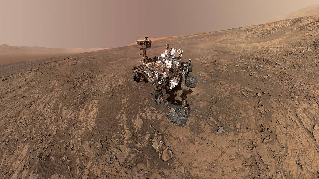 A self-portrait of NASA's Curiosity rover on Mars.