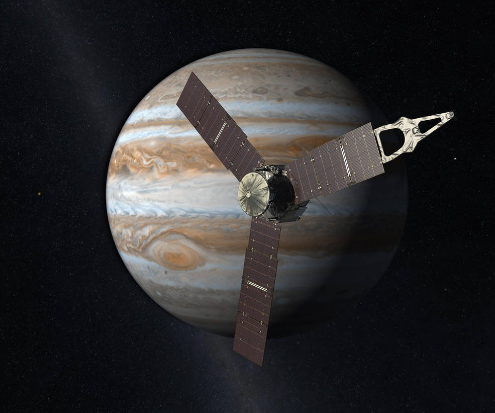 Illustration of NASA's Juno spacecraft.