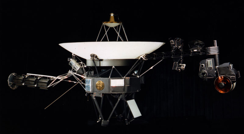 An image of one of NASA's two Voyager spacecraft.