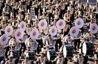 Bands in Rose Parade.