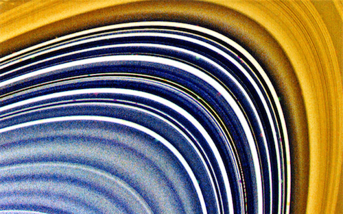 The Bright Rings Of Saturn Are Made Of Ice
