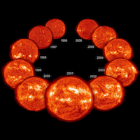 images of the sun in different stages of the solar cycle