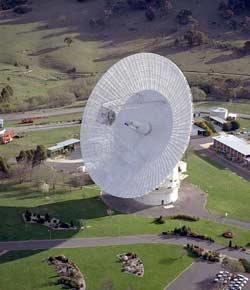 Deep Space Network 70-meter antenna at Canberra, Australia