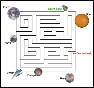 Guide Your Spacecraft Through A Space Maze Nasa Space