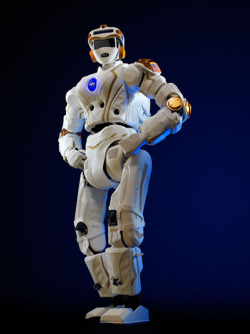 A photograph of the humanoid Valkyrie robot.
