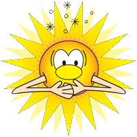 Cartoon of Sun with indigestion.
