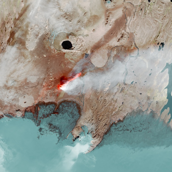 Landsat image of a lava flow