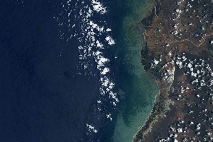 Landsat image of flooding in madagascar.