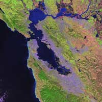 Landsat image of san Francisco.