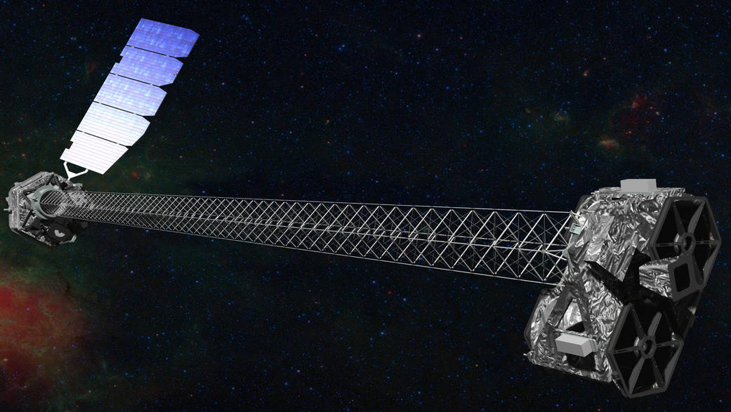 An illustration of NASA's NuSTAR spacecraft