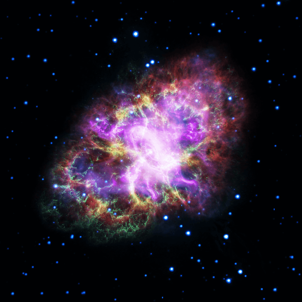 Image of the Crab Nebula.