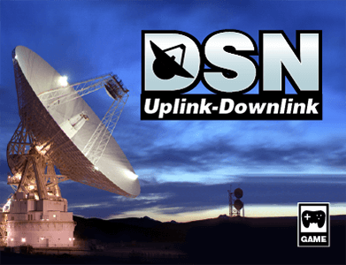 Game box art for the game DSN Uplink-Downlink.