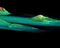 La topografía de las islas Hawaianas.