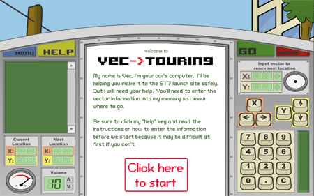 Vec-Touring game screenshot.