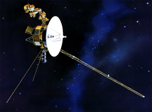 An artist's rendering of one of the Voyager spacecraft.
